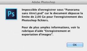 Un fichier trop volumineux dans Photoshop ?